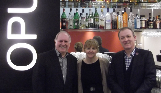 Picture Caption:  Trevor Land, director of Gastro Card, Jayne Bradley, director of Kitchen School, Birmingham and Martin Holcombe, chief executive of