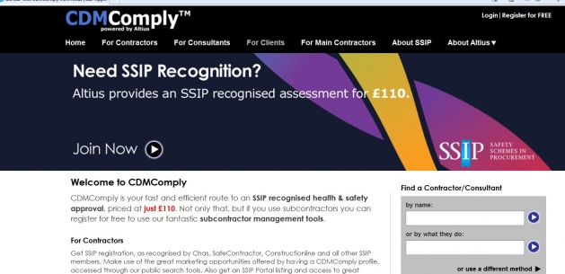 CDMComply SSIP approved online CDM assessment